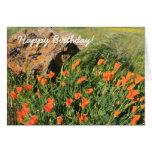 Tarjeta de felicitación de las amapolas de Califor