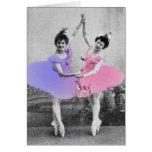 Tarjeta de felicitación de las bailarinas de los m