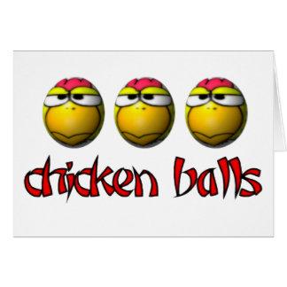 Tarjeta de felicitación de las bolas del pollo