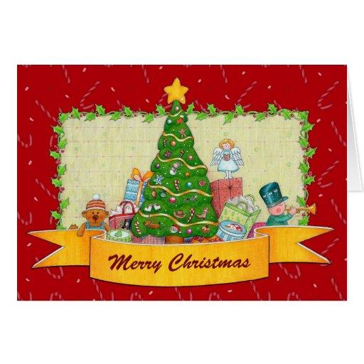Tarjeta de felicitación de las Felices Navidad