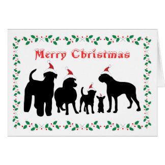Tarjeta de felicitación de las Felices Navidad del
