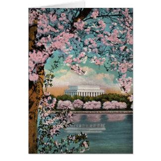 Tarjeta de felicitación de las flores de cerezo