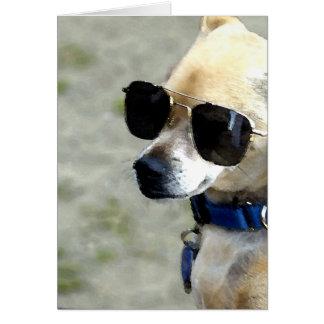 Tarjeta de felicitación de las gafas de sol que ll