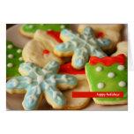 Tarjeta de felicitación de las galletas del navida