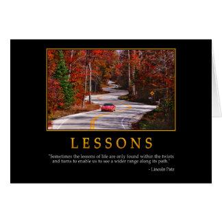 Tarjeta de felicitación de las lecciones