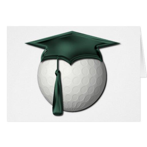Tarjeta de felicitación de las lecciones de golf