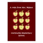 Tarjeta de felicitación de las manzanas del otoño