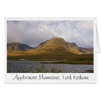 Tarjeta de felicitación de las montañas de Applecr