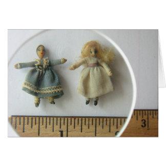 Tarjeta de felicitación de las muñecas del parque