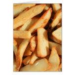 Tarjeta de felicitación de las patatas fritas