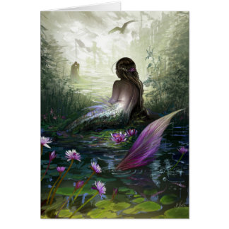 Tarjeta de felicitación de little mermaid