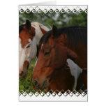 Tarjeta de felicitación de los amigos del caballo