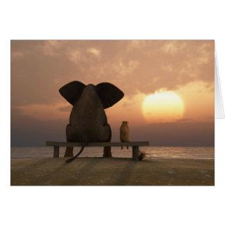 Tarjeta de felicitación de los amigos del elefante