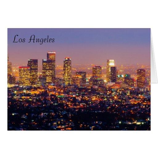 Tarjeta de felicitación de Los Ángeles