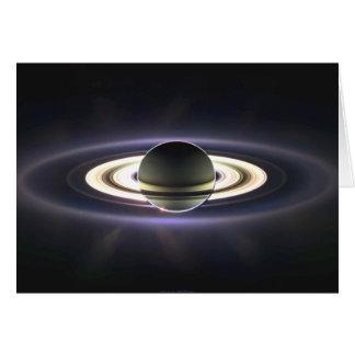 Tarjeta de felicitación de los anillos de Saturn