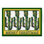 Tarjeta de felicitación de los árboles del cactus