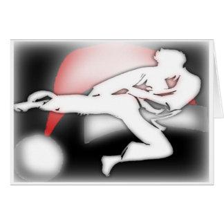 Tarjeta de felicitación de los artes marciales del