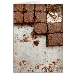"""Tarjeta de felicitación de los """"brownie que"""