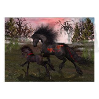 Tarjeta de felicitación de los caballos del