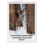 Tarjeta de felicitación de los ciervos del salmo 4