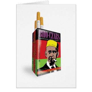 Tarjeta de felicitación de los cigarrillos de los