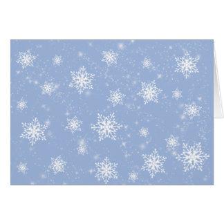 Tarjeta de felicitación de los copos de nieve