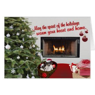 Tarjeta de felicitación de los deseos del navidad