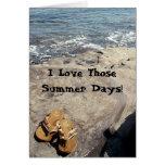 Tarjeta de felicitación de los días de verano