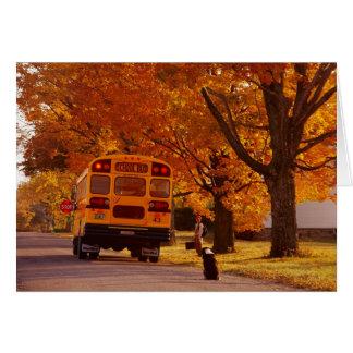 Tarjeta de felicitación de los días escolares