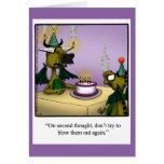 Tarjeta de felicitación de los dragones del humor