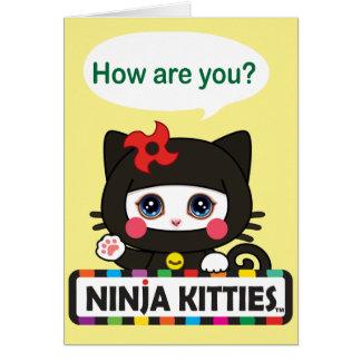 Tarjeta de felicitación de los gatitos de Ninja