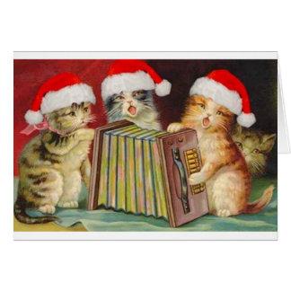 Tarjeta de felicitación de los gatos de Accordian