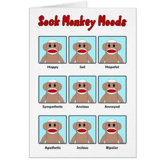 Tarjeta de felicitación de los humores del mono de