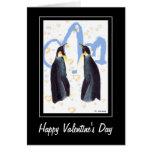 Tarjeta de felicitación de los pingüinos de la tar