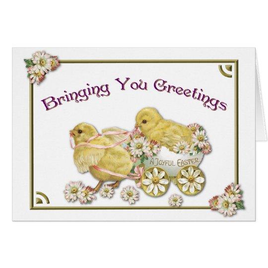 Tarjeta de felicitación de los polluelos del bebé