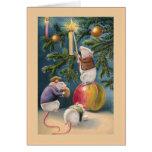 """""""Tarjeta de felicitación de los ratones del navida"""