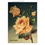 Tarjeta de felicitación de los rosas amarillos del