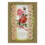 Tarjeta de felicitación de los rosas de Pascua del