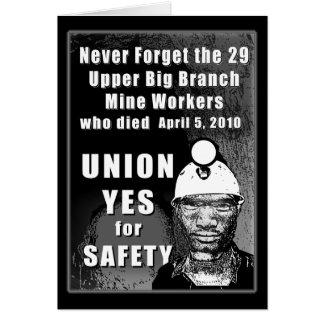 Tarjeta de felicitación de los trabajadores de min