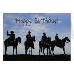 Tarjeta de felicitación de los vaqueros del feliz
