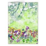 Tarjeta de felicitación de los Wildflowers - escon