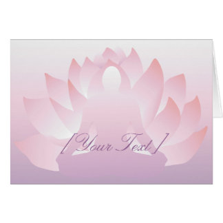 Tarjeta de felicitación de Lotus de la yoga