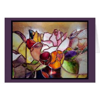 Tarjeta de felicitación de lujo de la flor del vit