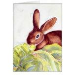 Tarjeta de felicitación de lúpulo de Pascua por el