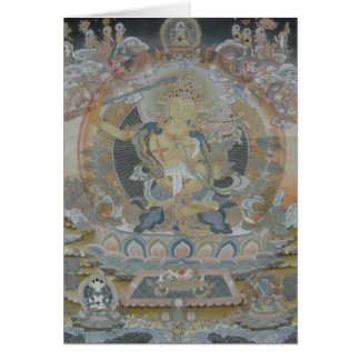 Tarjeta de felicitación de Manjushri