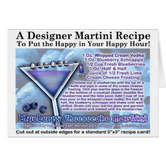 Tarjeta de felicitación de Martini del pastel de q