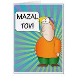 Tarjeta de felicitación de Mazal Tov - dibujo anim