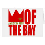 Tarjeta de felicitación de MIMS - rey americano de