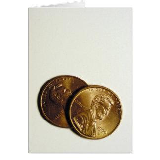 """tarjeta de felicitación de """"mis dos centavos"""""""