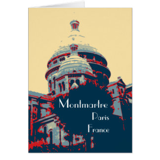 Tarjeta de felicitación de Montmartre de la basíli